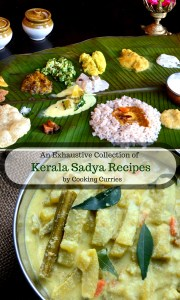 Kerala Sadya Recipes. Everything you need to make a ver memorable sadya feast for this Vishu or Onam! An exhaustive list of Sadya Recipes. All are Vegetarian and most are Vegan recipes
