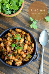 Red Chard and Cannellini Bean Saute - Vegan | Gluten Free