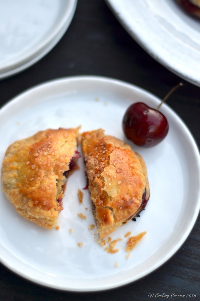 Cherry Thyme Puff Pastry Hand Pies - FoodieMamas - www.cookingcurries.com (4)