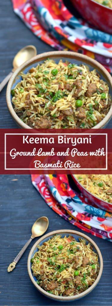 Easy and Delicious Keema Biryani - Biryani with Grount Lamb and Peas - www.cookingcurries.com