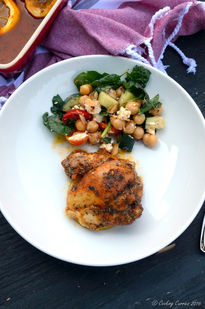 Mediterranean Spiced Lemon Roasted Chicken - Quick and Easy One Pot Recipe - www.cookingcurries.com (2)