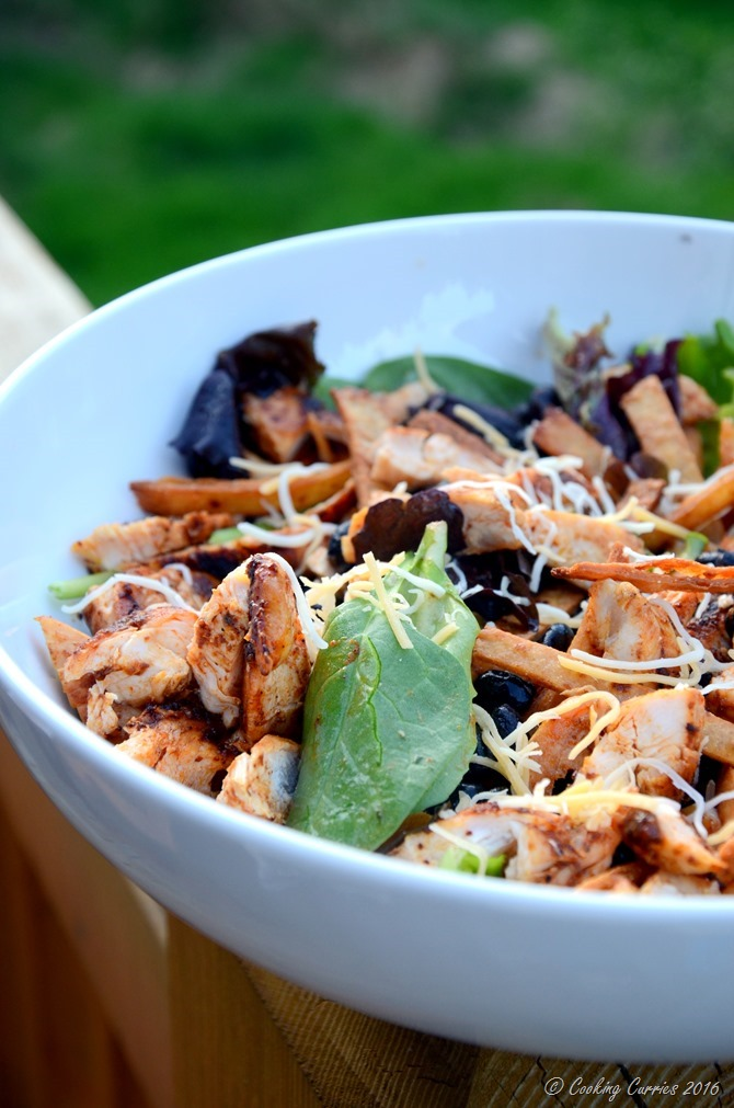 Grilled Chicken and Black Bean Taco Salad with Tequila Lime Dressing - www.cookingcurries.com (5)