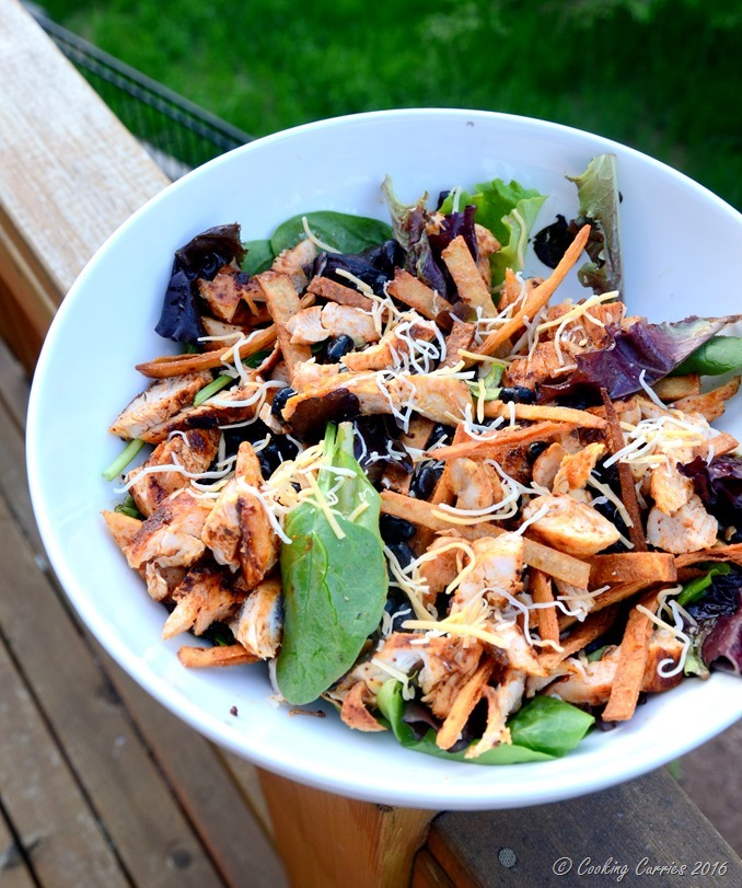 Grilled Chicken and Black Bean Taco Salad with Tequila Lime Dressing - www.cookingcurries.com (6)