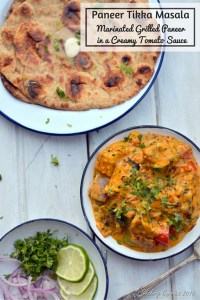 Paneer Tikka Masala - Grilled Marinated Paneer in a Creamy Tomato Sauce - Gluten Free Vegetarian - www.cookingcurries.com