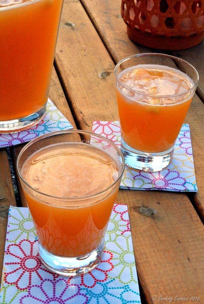 Peach Lemonade - a summer cooler. www.cookingcurries.com (3)