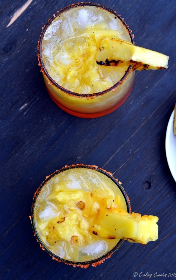 Grilled Pineapple Chilli Margarita - A summer cocktail! (4)