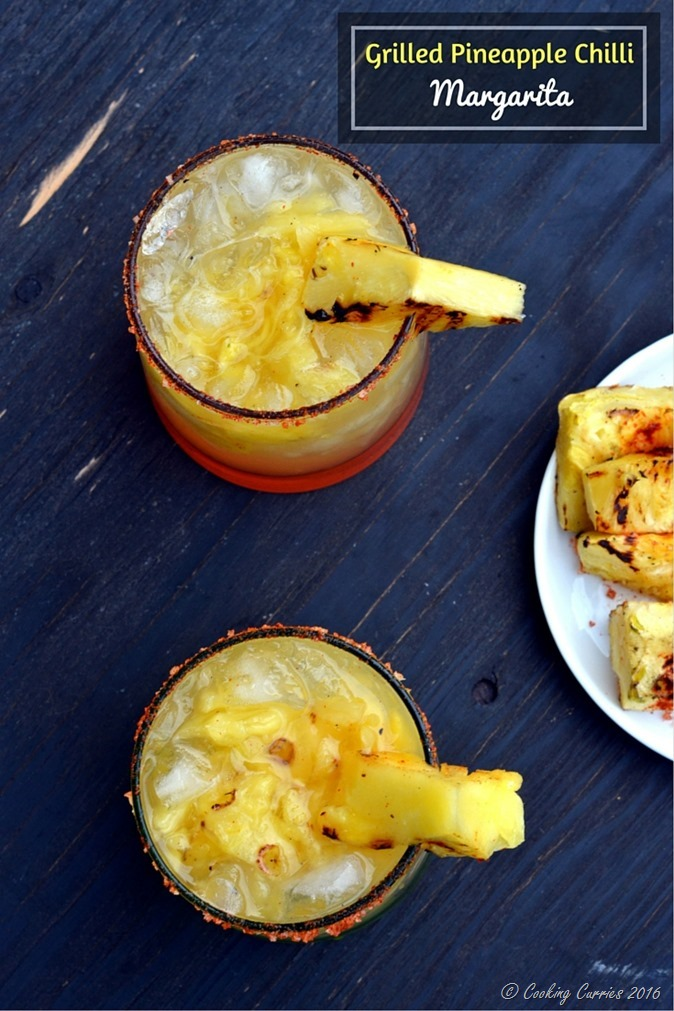 Grilled Pineapple Chilli Margarita - A summer cocktail!