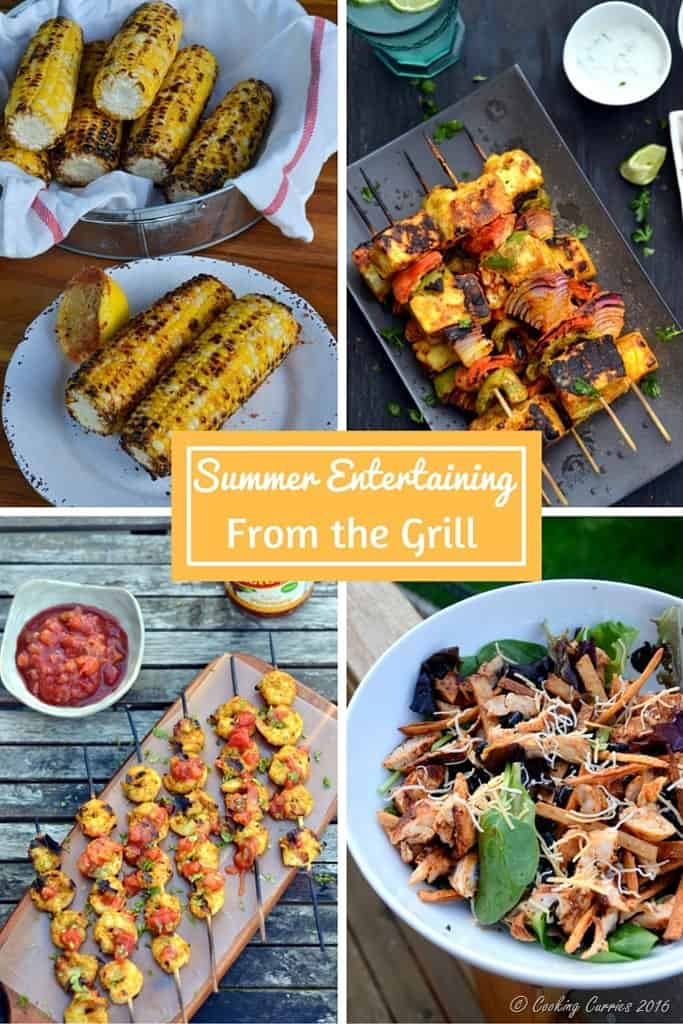 Summer Entertaining from the Grill - Look for the Ultimate Summer Entertaining Guide on www.cookingcurries.com