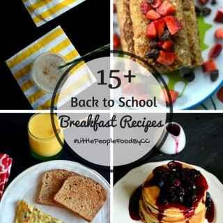 15+ back to school breakfast recipe ideas