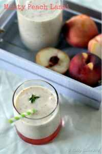http://www.cookingcurries.com/2016/08/minty-peach-lassi/