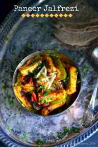 Paneer Jalfrezi – Paneer Stir Fried with Vegetables