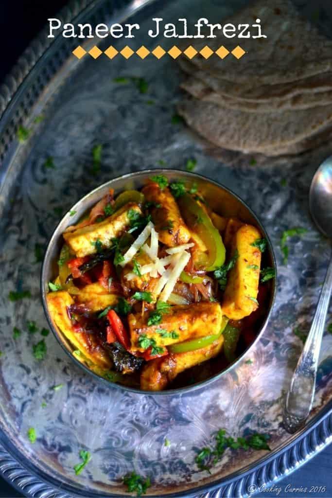 Paneer Jalfrezi - Paneer Stir Fried with Vegetables - www.cookingcurries.com