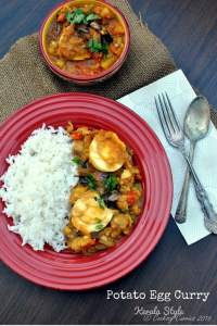 Kerala Style Potato Egg Curry ~ Nadan Urulakizhangu Mutta Curry
