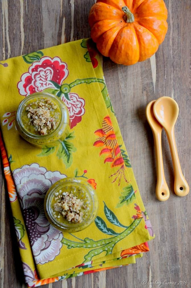 Pumpkin Pie Chia Pudding with Pecan Crumble - Pumpkin Recipe - Fall Recipes - CookingCurries (3)