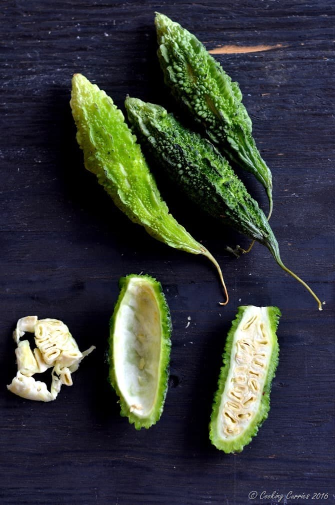 Pavakka Kichadi - Crispy Bitter Gourd in a Coconut Yogurt Sauce - Kerala Sadya Recipe (6)