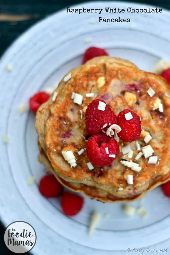 Raspberry White Chocolate Pancakes - FoodieMamas - www.cookingcurries.com (6)