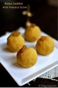Besan laddoo with Pumpkin Spice - Diwali Recipe