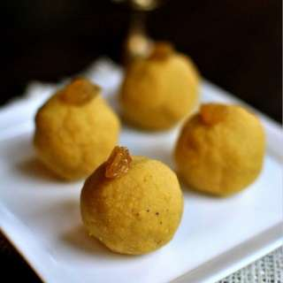 Besan laddoo with Pumpkin Spice - Diwali Recipe