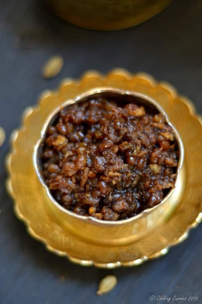 Sweet Payar Sundal - Green Mung With Jaggery, Cardamom and Coconut - Indian Festival Recipe - Navarathri, Diwali - Vegan, Gluten Free (3)