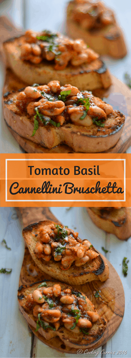 Tomato Basil Cannellini Bruschetta - The Tuscan Way