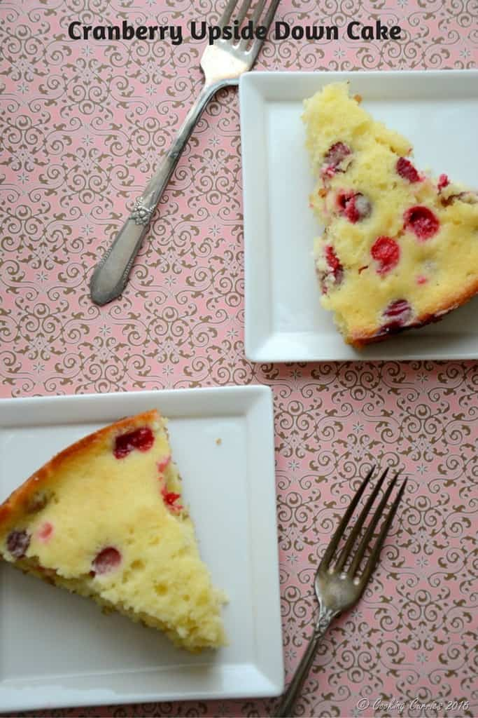 Cranberry Upside Down Cake - Thanksgiving Dessert