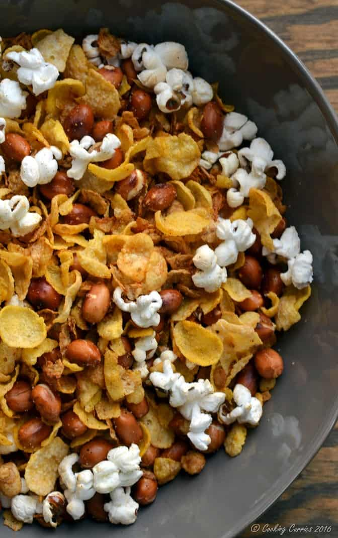 Popcorn Cereal Trail Mix - perfect snack for movies (3)
