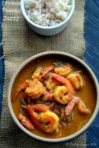 Kerala Style Prawns Tomato Curry ~ Shrimp Tomato Curry