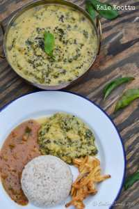 Kale Koottu – Kale and Toor Dal in a Spiced Coconut Sauce