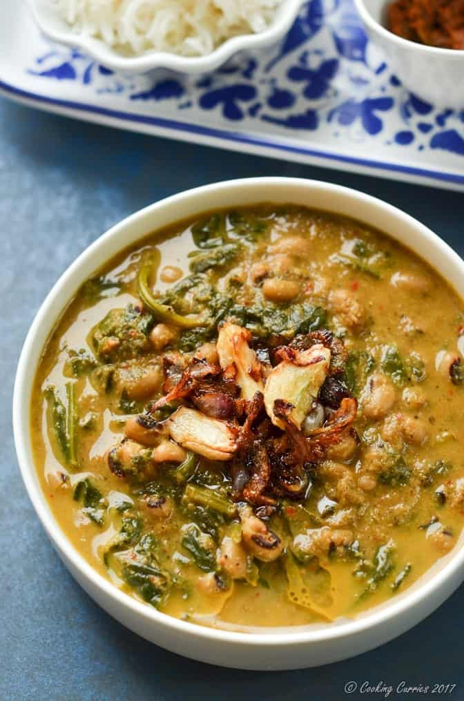 Mangalorean Black Eyed Peas and Spinach Curry (1 of 5)