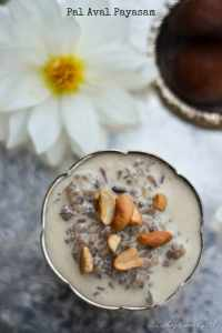 Pal Aval Payasam – Rice Flakes Milk Pudding