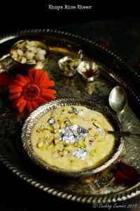 Khoya Rice Kheer - Rice and Milk Solids Pudding - Indian Festival Recipes