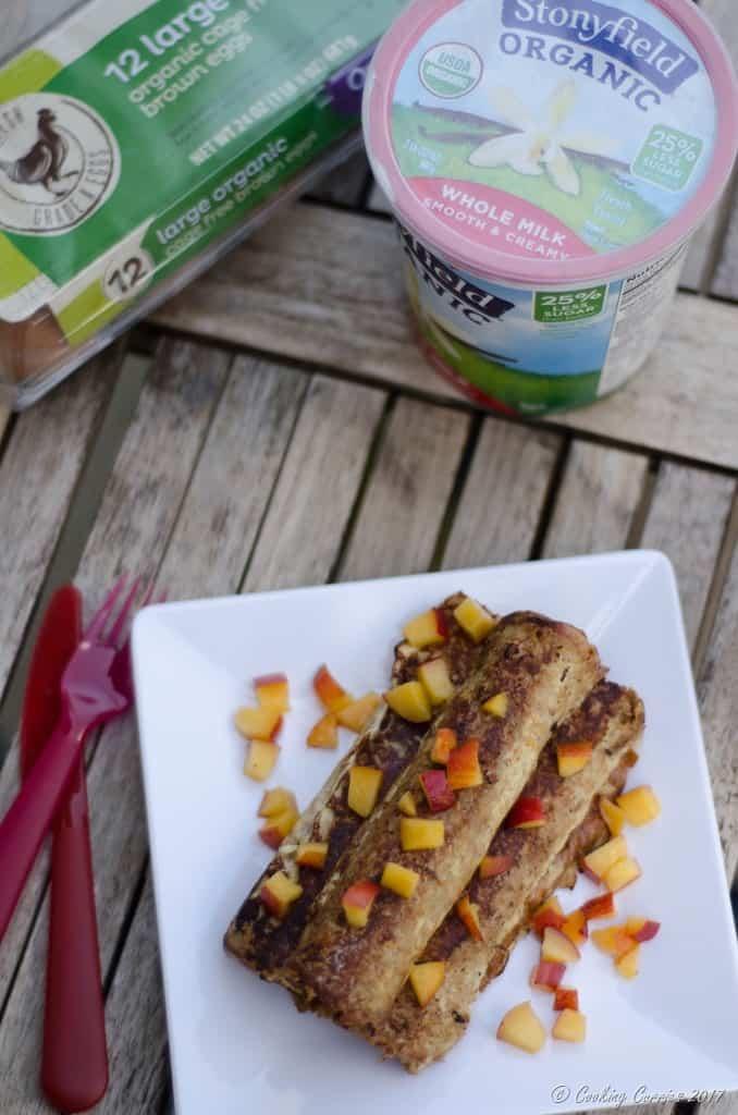 Peach Stuffed Vanilla Yogurt French Toast Roll Ups (6 of 6)