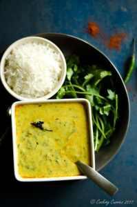 Palak Kadhi–Spinach Yogurt Curry