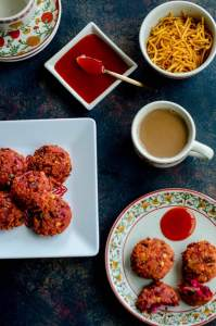 Beetroot Parippu Vada–Spiced Beet and Lentil Fritters
