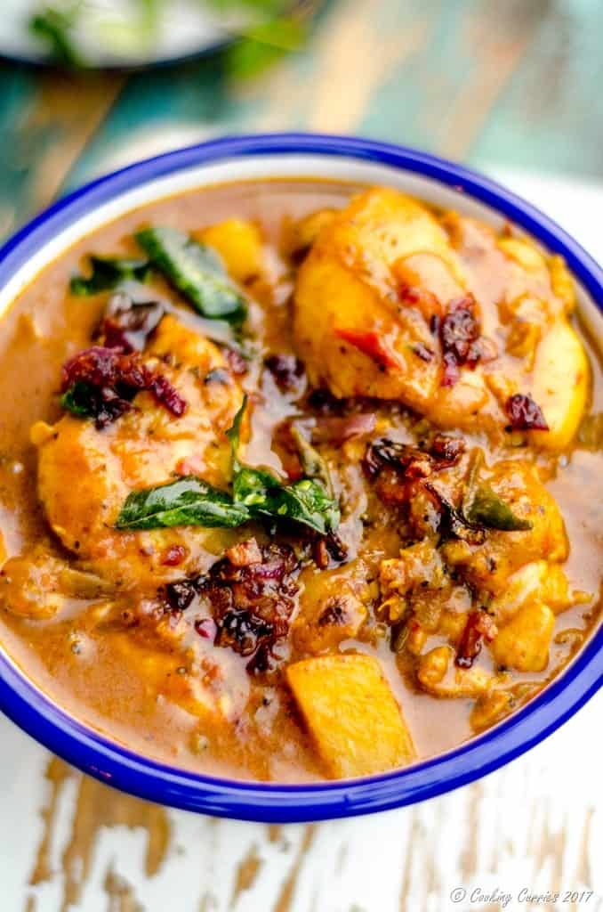 Kerala Style Chicken Curry with Coconut Milk - Nadan Chicken Curry (1 of 9)