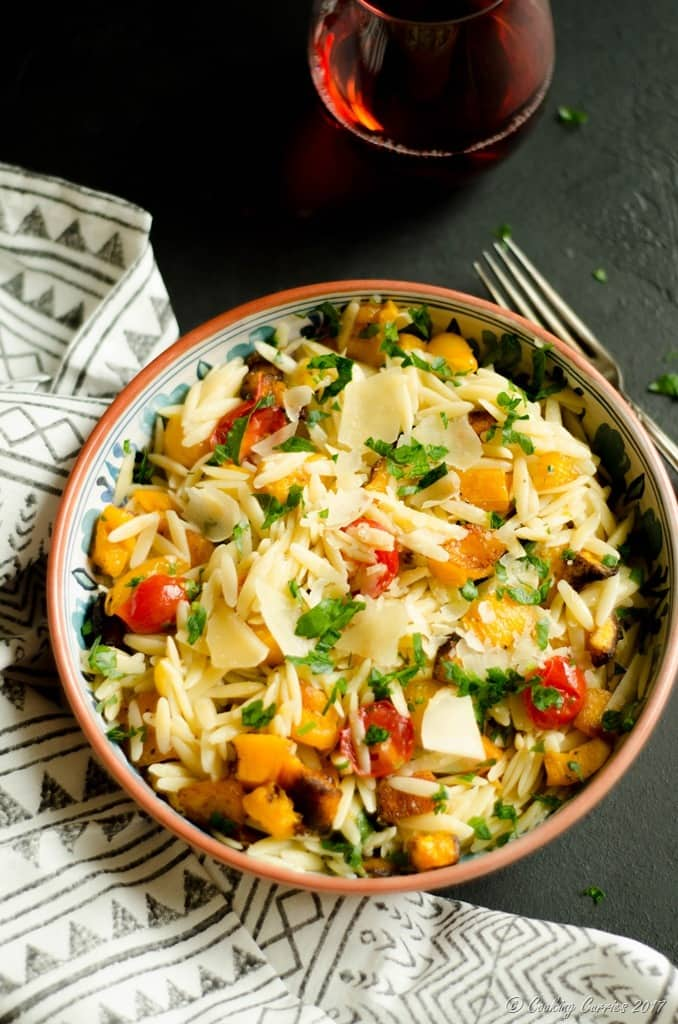 Butternut Squash and Cherry Tomatoes Orzo (2 of 5)