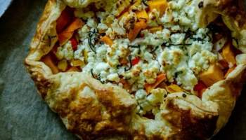 recipe: butternut squash goats cheese puff pastry [29]