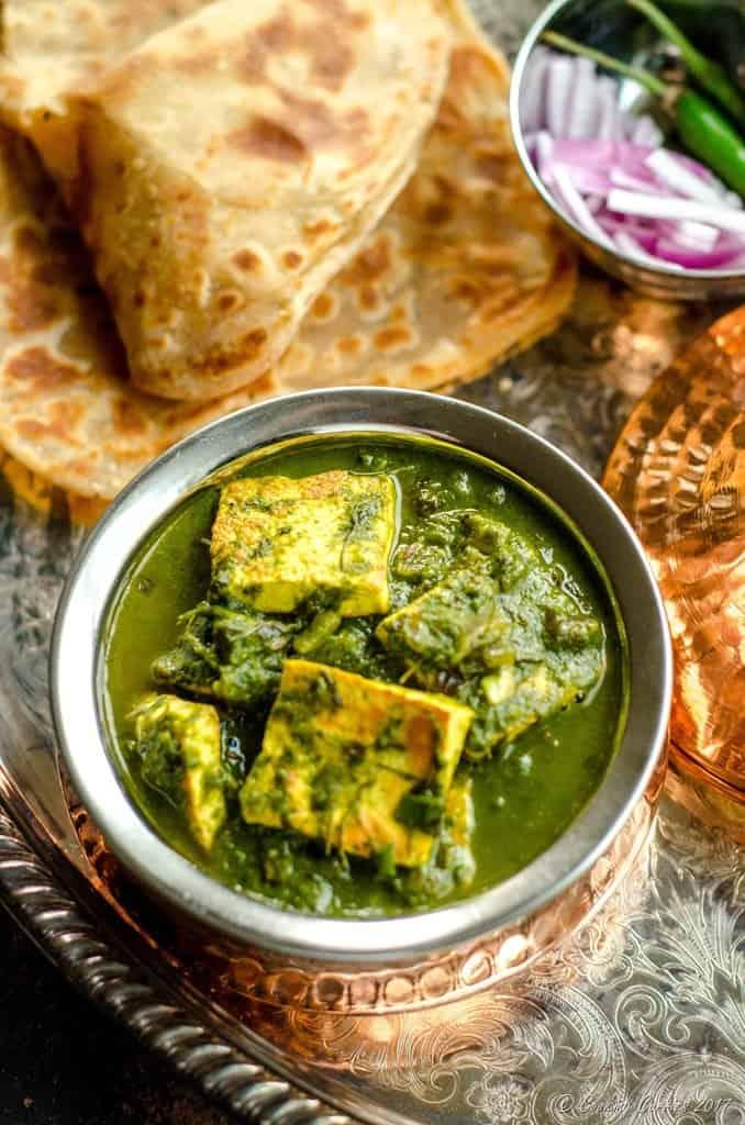 Palak Methi Paneer - Spinach and Fenugreek Paneer Curry (1 of 5)