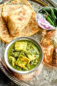 Palak Methi Paneer – Paneer with Spinach And Fenugreek