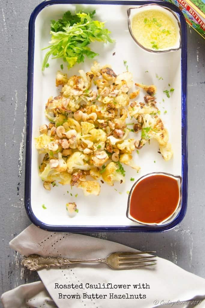 Roasted Cauliflower withBrown Butter Hazelnuts