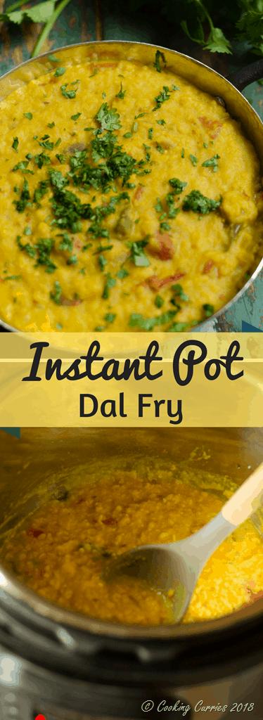 Instant Pot Dal Fry Recipe