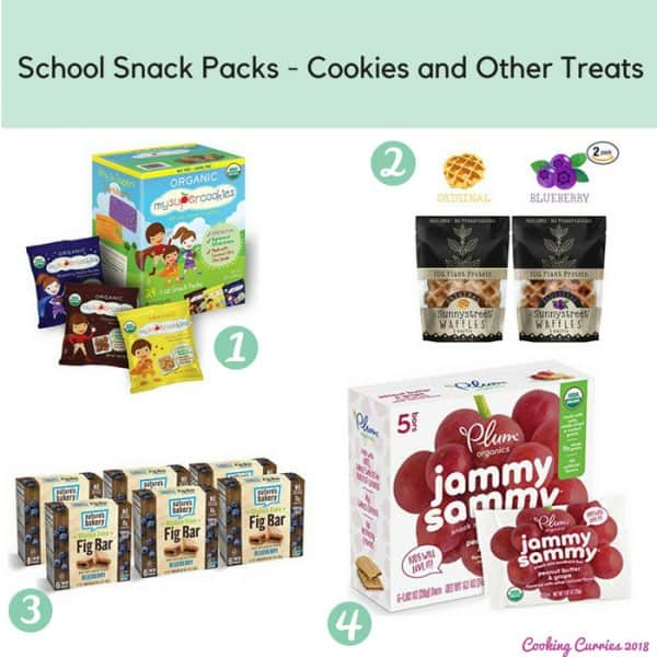 School Snack Packs - Cookies and Other Treats