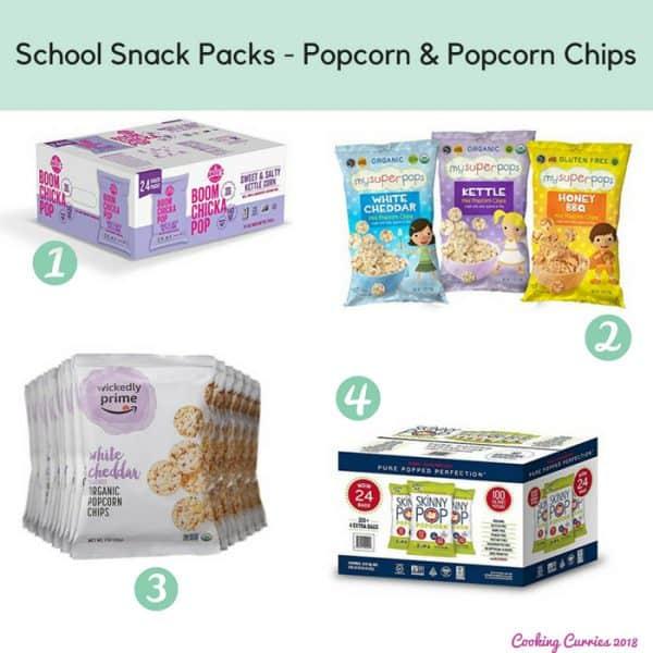 School Snack Packs - Popcorn & Popcorn Chips