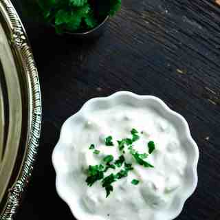 Onion Cucumber Raita