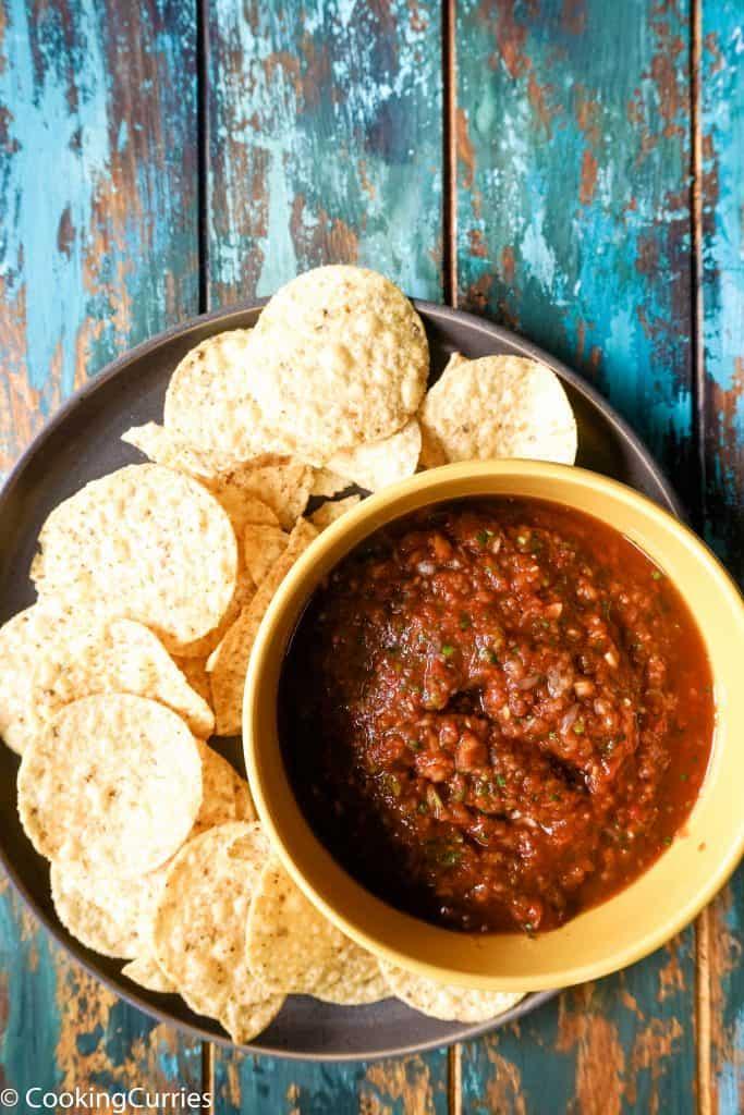 5 minute homemade tomato salsa