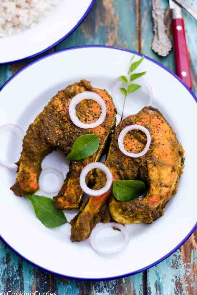 Indian Style Salmon Masala Fry
