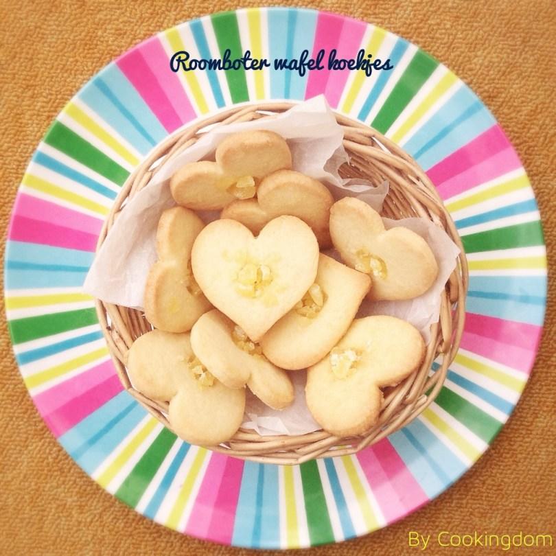 Roomboter wafel koekjes By Cookingdom
