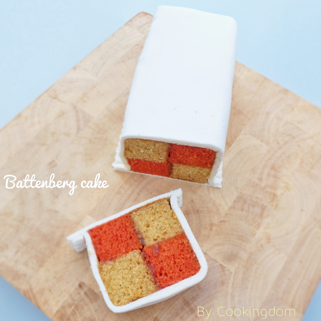 Battenberg cake by Cookingdom