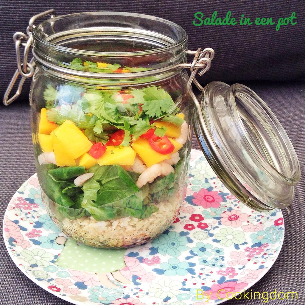 Salade in een pot, by Cookingdom