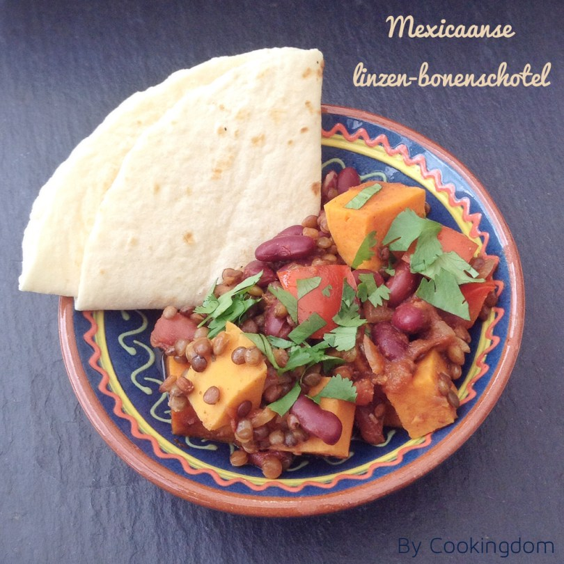 Mexicaanse linzen-bonenschotel By Cookingdom